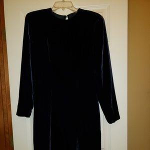 Donna Karan New York Velvet Evening Dress Size 8